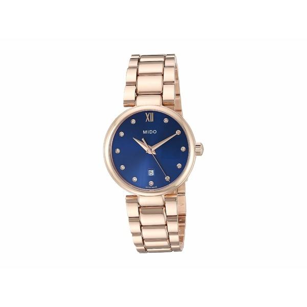 ミド レディース 腕時計 アクセサリー Baroncelli Donna Quartz Rose PVD Bracelet - M0222103304600 Blue