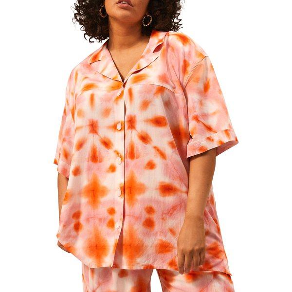 リバーアイランド レディース トップス カットソー Pink - Light 全商品無料サイズ交換 リバーアイランド レディース カットソー トップス Tie Dye Oversize Shirt Pink - Light