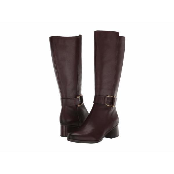 ナチュライザー レディース ブーツ&レインブーツ シューズ Daelynn Wide Calf Chocolate Leather