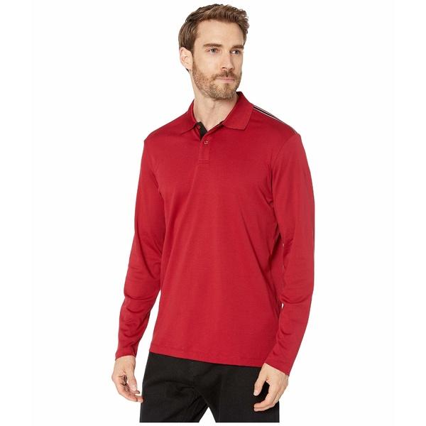 ブガッチ メンズ シャツ トップス Oliver Knit Long Sleeve Two-Button Polo Bordeaux