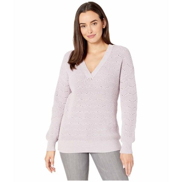 リラピー レディース ニット&セーター アウター Oversized V-Neck Sweater Lilac