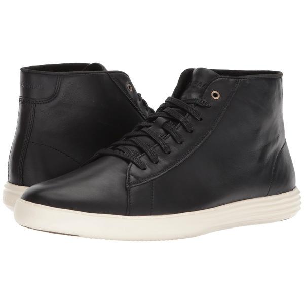 コールハーン メンズ スニーカー シューズ Grand Crosscourt High Top Black Leather