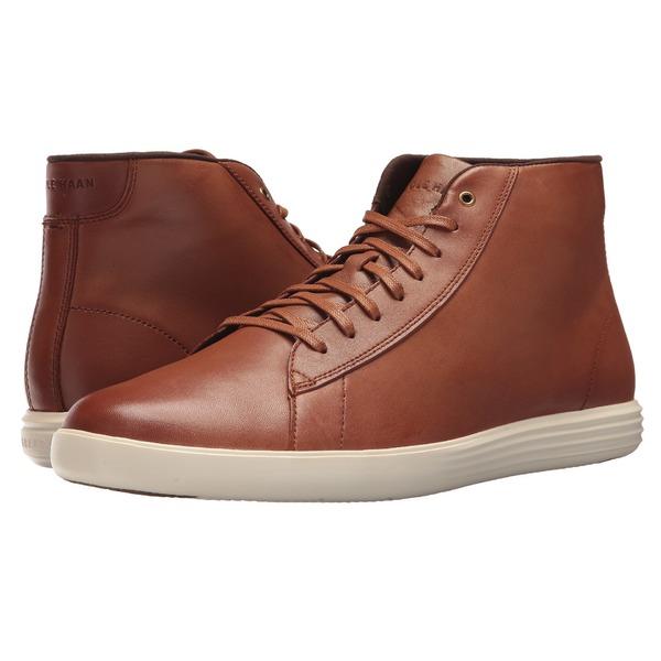 コールハーン メンズ スニーカー シューズ Grand Crosscourt High Top Woodbury Leather