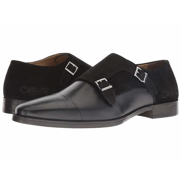 カルロスサンタナ メンズ ドレスシューズ シューズ Davis Double Monk Strap Black Calfskin Leather/Suede