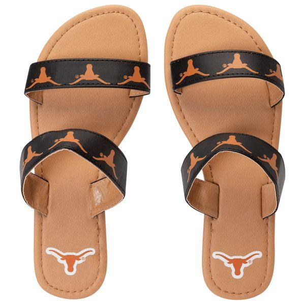 フォコ レディース サンダル シューズ Texas Longhorns Women's Double Strap Sandals