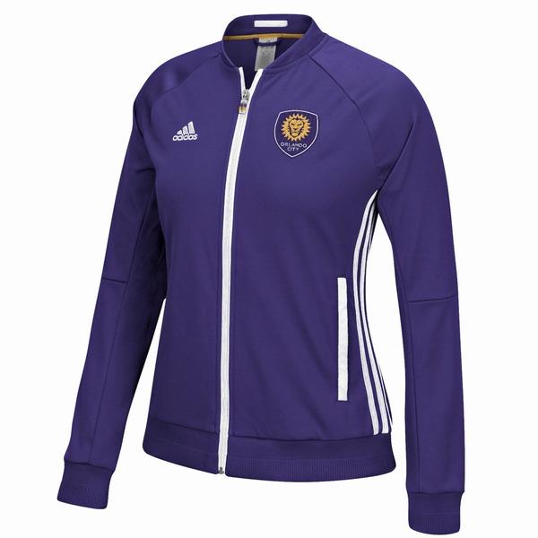 アディダス レディース ジャケット&ブルゾン アウター Orlando City SC adidas Women's Anthem Jacket Purple
