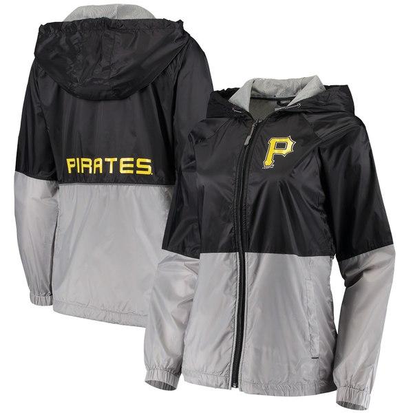 カールバンクス レディース ジャケット&ブルゾン アウター Pittsburgh Pirates GIII Sports by Carl Banks Women's Strize FullZip Jacket Black