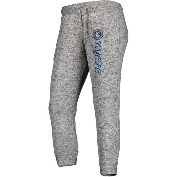 ファナティクス レディース カジュアルパンツ ボトムス New York City FC Fanatics Branded Women's Cozy Collection MLS Steadfast Crop Jogger Pant Heathered Gray