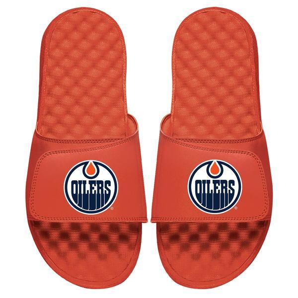 アイスライド メンズ サンダル シューズ Edmonton Oilers ISlide Primary Logo Slide Sandals Orange