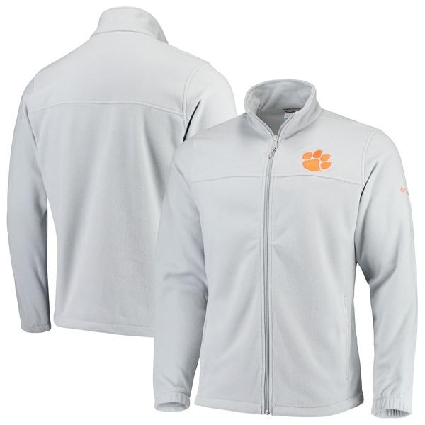 コロンビア メンズ ジャケット&ブルゾン アウター Clemson Tigers Columbia Flanker III Fleece Team FullZip Jacket Gray