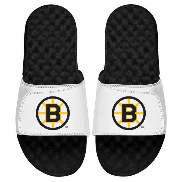 アイスライド メンズ サンダル シューズ Boston Bruins ISlide Vintage Logo Slide Sandals White