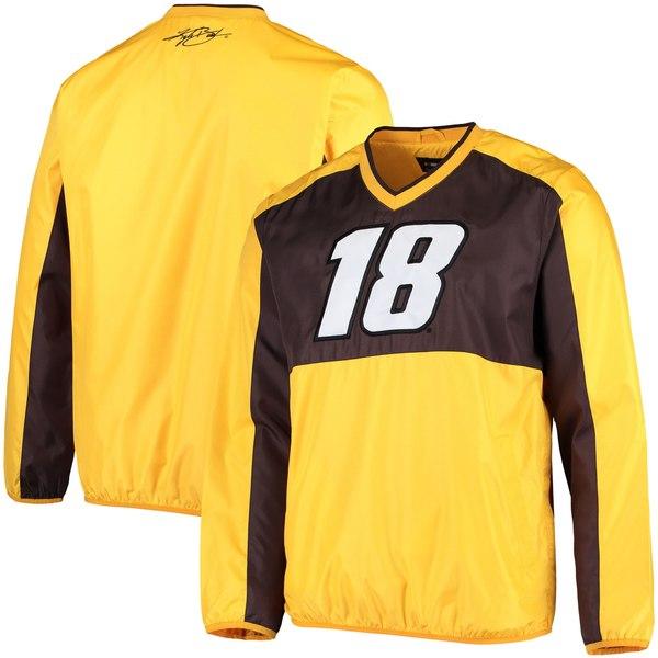 カールバンクス メンズ ジャケット&ブルゾン アウター Kyle Busch GIII Sports by Carl Banks High Heat VNeck Pullover Jacket Yellow