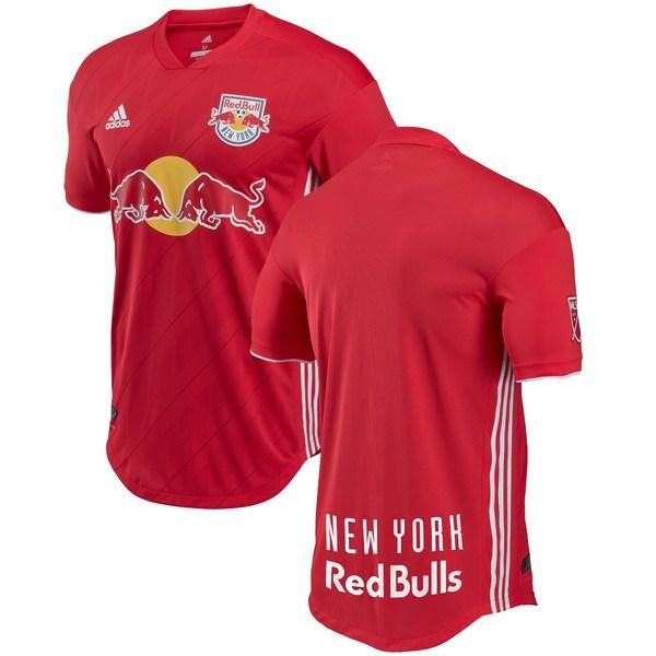 アディダス メンズ ユニフォーム トップス New York Red Bulls adidas 2018 Secondary Authentic Jersey Red
