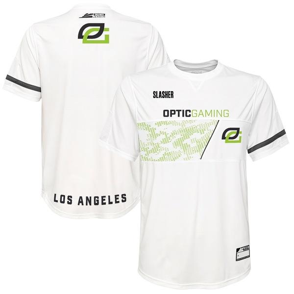 アウタースタッフ メンズ ユニフォーム トップス SlasheR OpTic Gaming Los Angeles Home Jersey White