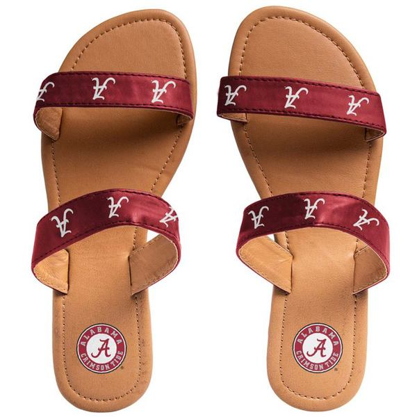 フォコ レディース サンダル シューズ Alabama Crimson Tide Women's Double Strap Sandals