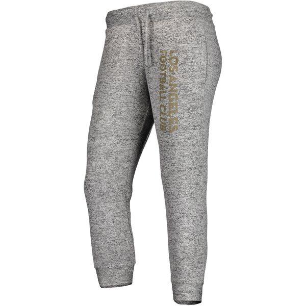 ファナティクス レディース カジュアルパンツ ボトムス LAFC Fanatics Branded Women's Cozy Collection MLS Steadfast Crop Jogger Pant Heathered Gray