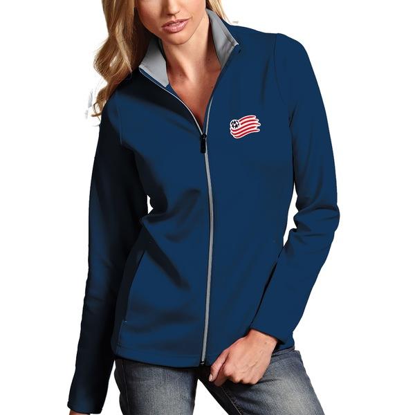 アンティグア レディース ジャケット&ブルゾン アウター New England Revolution Antigua Women's Leader Full Zip Jacket Navy