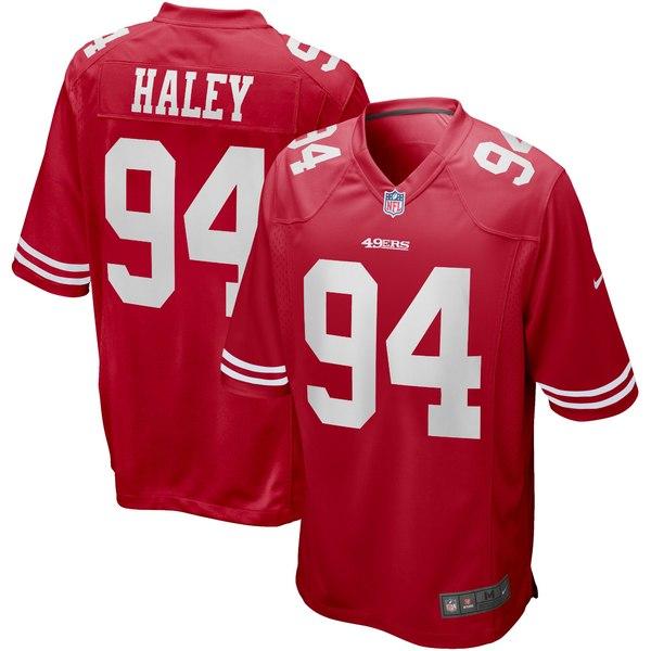 ナイキ メンズ ユニフォーム トップス Charles Haley San Francisco 49ers Nike Game Retired Player Jersey Scarlet