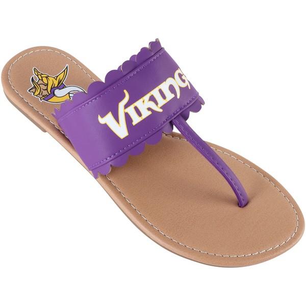 フォコ レディース サンダル シューズ Minnesota Vikings Women's Ruffle Sandals Purple