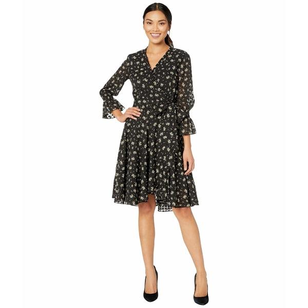 タハリ レディース トップス 注文後の変更キャンセル返品 即日出荷 ワンピース Black Ivory Ditsy Floral Printed Dot Sleeve 全商品無料サイズ交換 Mini Swiss Long Dress