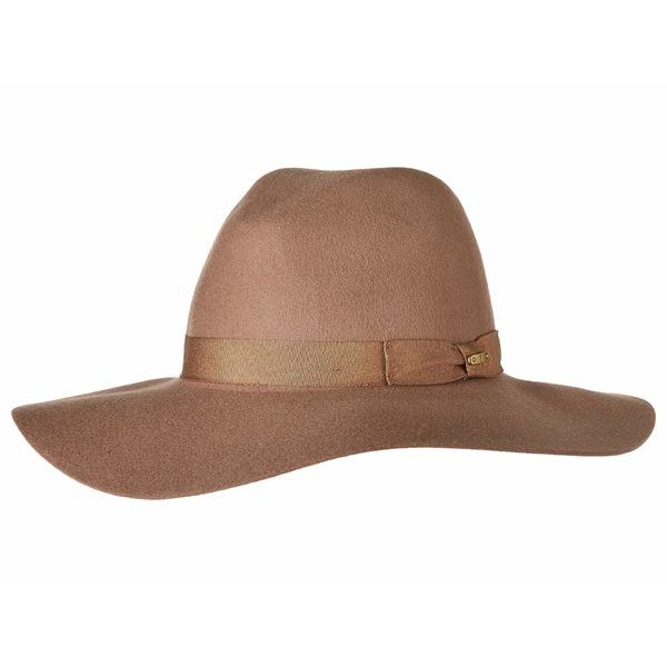 サンディエゴハット レディース 帽子 アクセサリー WFH8049 Wide Flat Brim Fedora Camel
