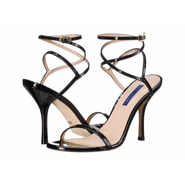 スチュアート ワイツマン レディース ヒール シューズ Merinda Ankle Wrap Sandal Black Patent