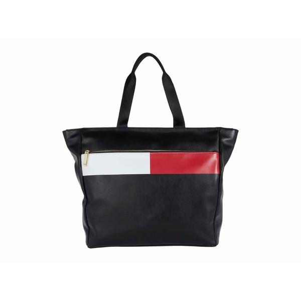 トミー ヒルフィガー レディース ハンドバッグ バッグ Sirina 1.5 - Tote - Flag Smooth PVC Black