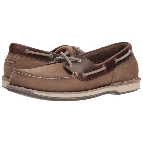 ロックポート メンズ デッキシューズ シューズ Ports of Call Perth Taupe Nubuck/Beeswax Leather