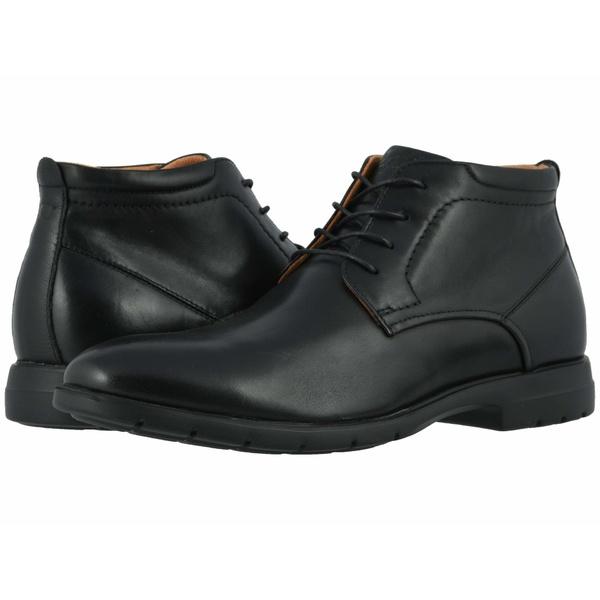 フローシャイム メンズ ブーツ&レインブーツ シューズ Westside Plain Toe Chukka Boot Black Smooth