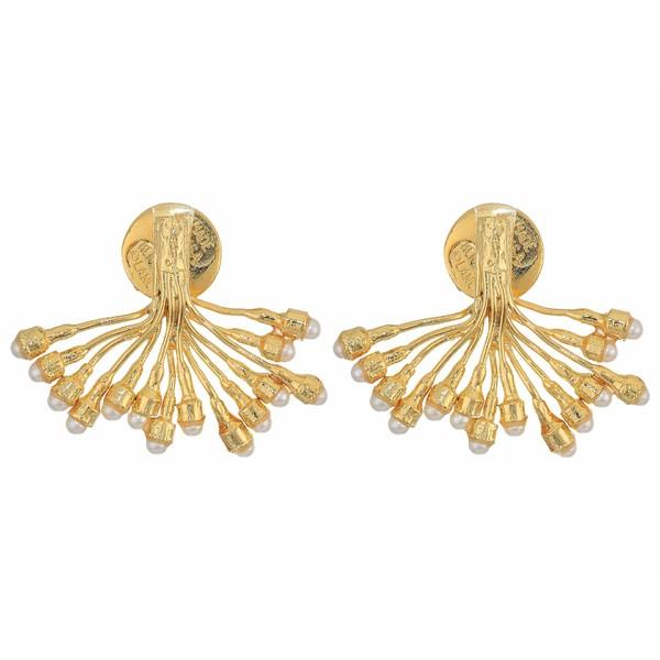 ケネスジェイレーン レディース ピアス&イヤリング アクセサリー Gold with Pearl Dots Branch Pierced Earrings Gold/Pearl