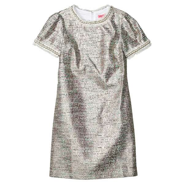 ベッツィジョンソン レディース ワンピース トップス Metallic Tweed Dress Waterfall