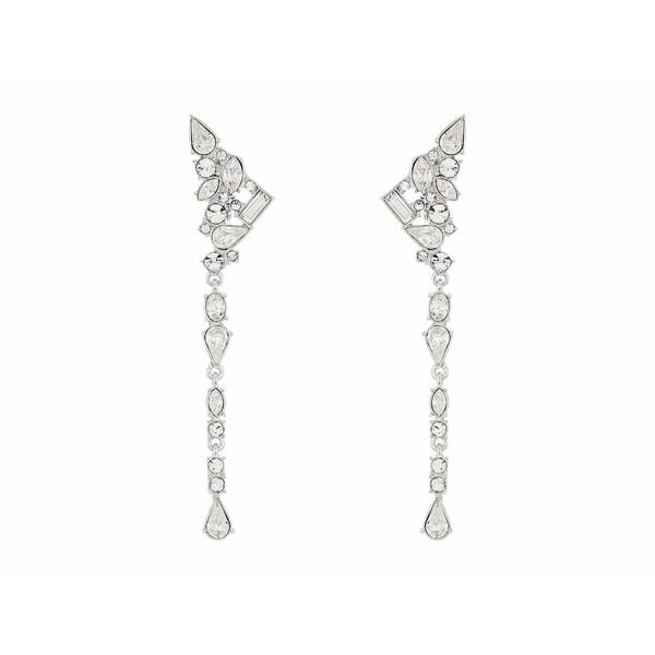 ヴィンスカムート レディース ピアス&イヤリング アクセサリー Ear Climber Linear Clip Earrings Rhodium/Crystal