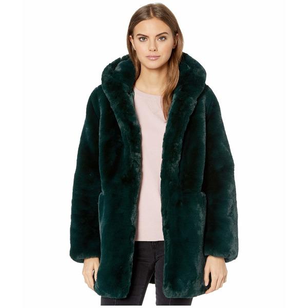 アッパリス レディース コート アウター Marie Hooded Faux Fur Coat Emerald