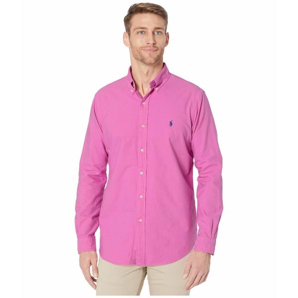 ラルフローレン メンズ シャツ トップス Garment Dyed Oxford Shirt Resort Rose