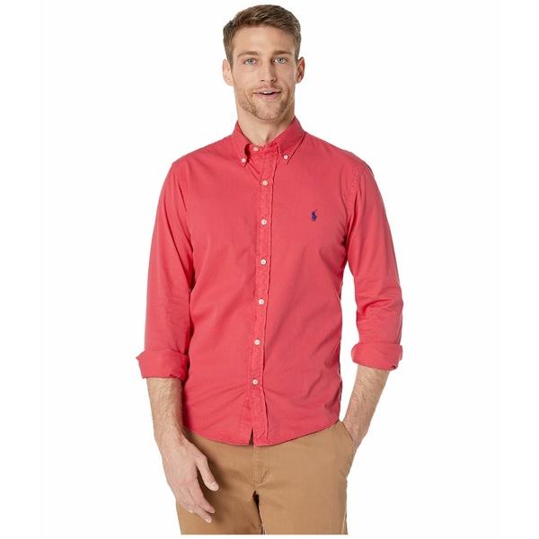 ラルフローレン メンズ シャツ トップス Garment Dyed Chino Shirt Red