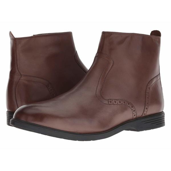 ハッシュパピー メンズ ブーツ&レインブーツ シューズ Shepsky Zip Boot Brown Leather