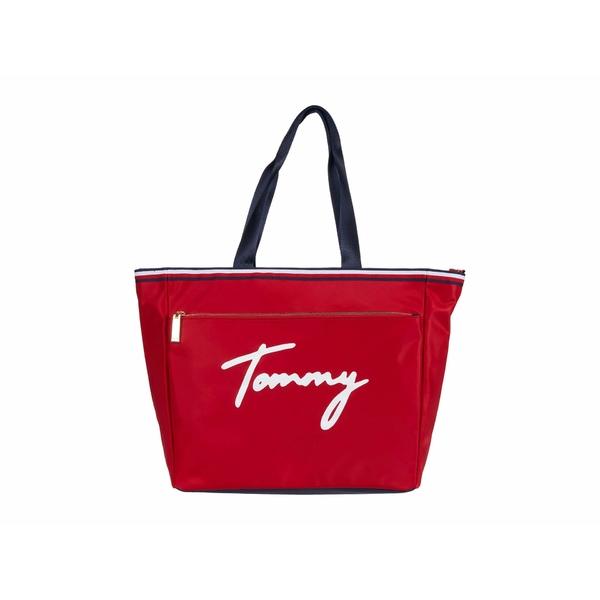 トミー ヒルフィガー レディース ハンドバッグ バッグ Sirina 1.5 - Tote - Tommy Nylon Tommy Red
