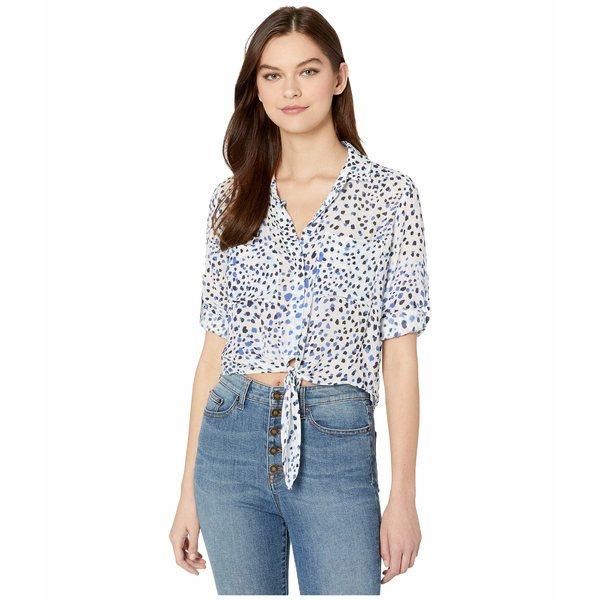 ベラダール レディース シャツ トップス Tie Front Pocket Shirt Ocean Blue