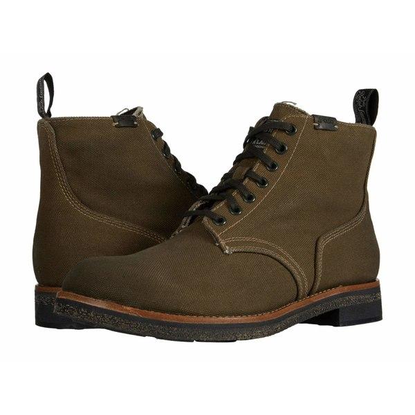 ラルフローレン メンズ ブーツ&レインブーツ シューズ Army Boot Classic Olive Waxed Canvas