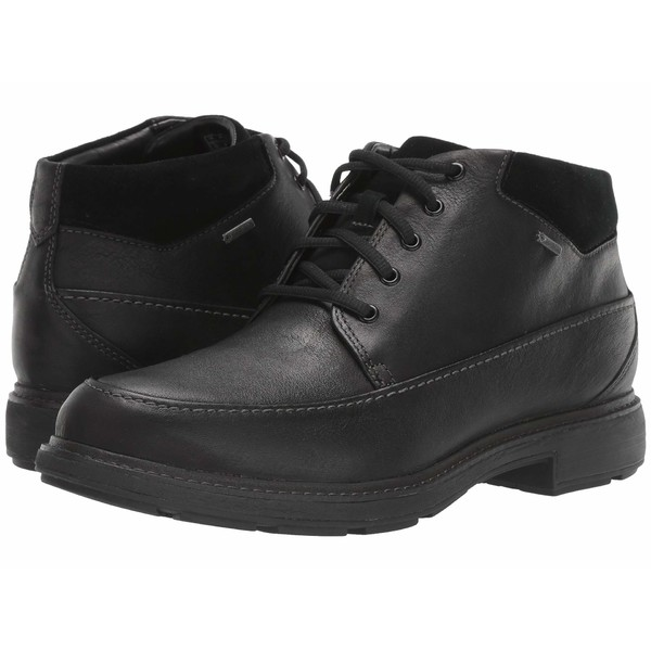 クラークス メンズ ブーツ&レインブーツ シューズ Un Tread OnGTX Black Leather