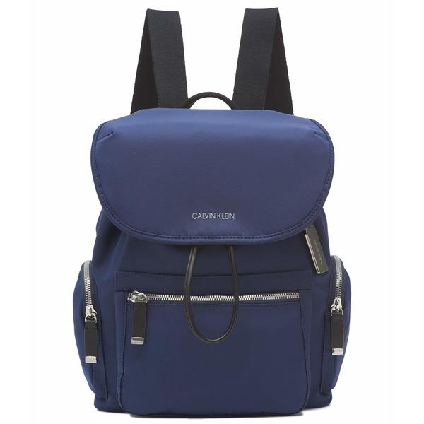 カルバンクライン レディース バックパック・リュックサック バッグ Kimberly Tiny Twill Nylon Backpack Navy