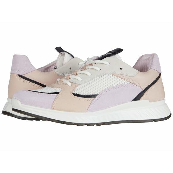 エコー レディース スニーカー シューズ ST.1 Trend Sneaker Blossom Rose/Black/White/Rose Dust Calf Suede/Yak Leather/Yak Nu