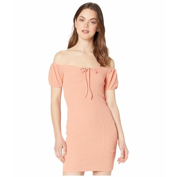 BCBジェネレーション レディース ワンピース トップス Cocktail Off-the-Shoulder Dress TRT6268184 Papaya
