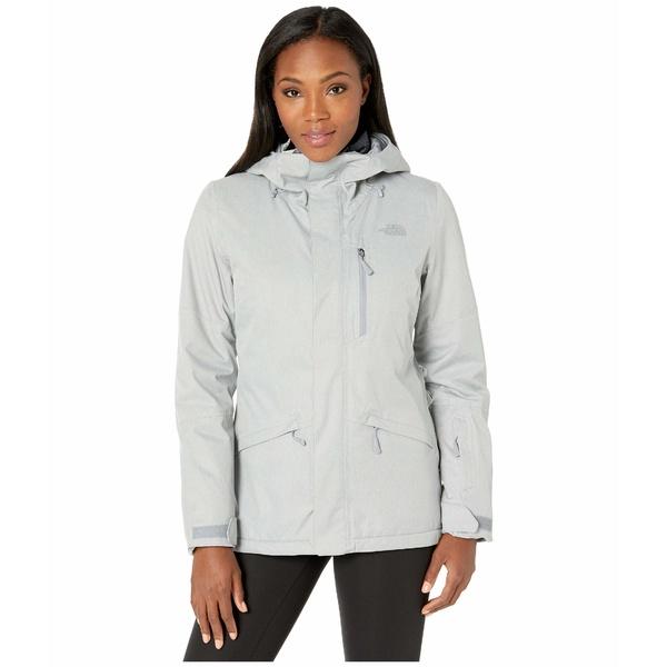 ノースフェイス レディース コート アウター Thermoball Eco Snow Triclimate Jacket Mid Grey Heather