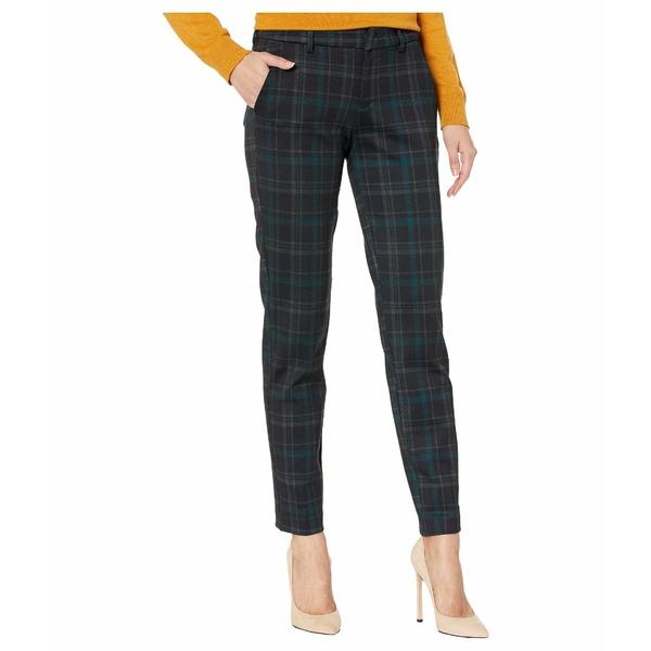 リバプール レディース カジュアルパンツ ボトムス Kelsey Knit Trousers in Tartan Plaid Knit Black/Evergreen