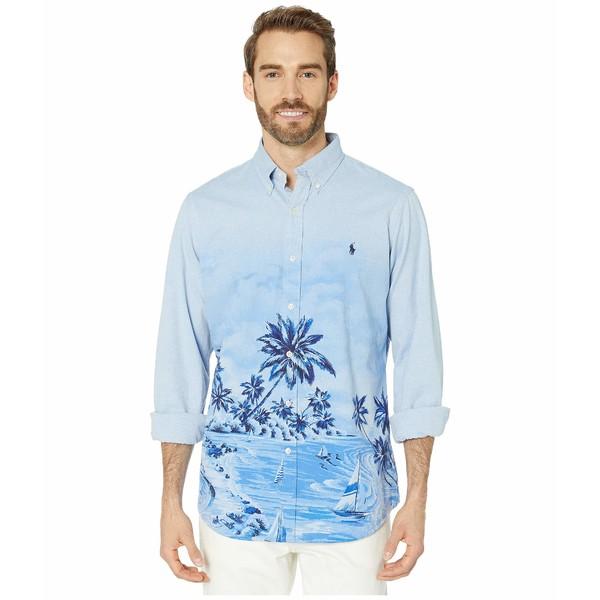 ラルフローレン メンズ シャツ トップス Classic Fit Long Sleeve Oxford Woven Shirt Border Poolside Scenic