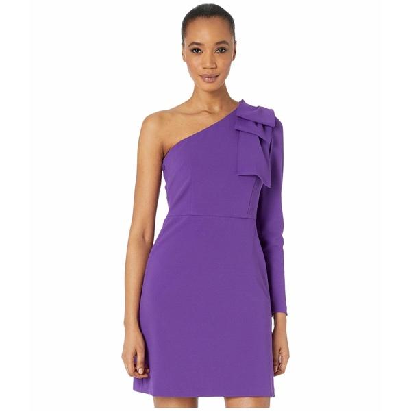 ドナモーガン レディース トップス ワンピース Bright Purple 全商品無料サイズ交換 宅配便送料無料 One with Shoulder 正規品 Front Stretch Crepe Dress Slit