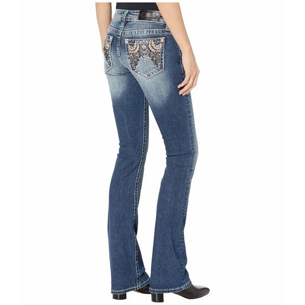 ミスミー レディース デニムパンツ ボトムス Aztec Feather Bootcut Jeans in Dark Blue Dark Blue