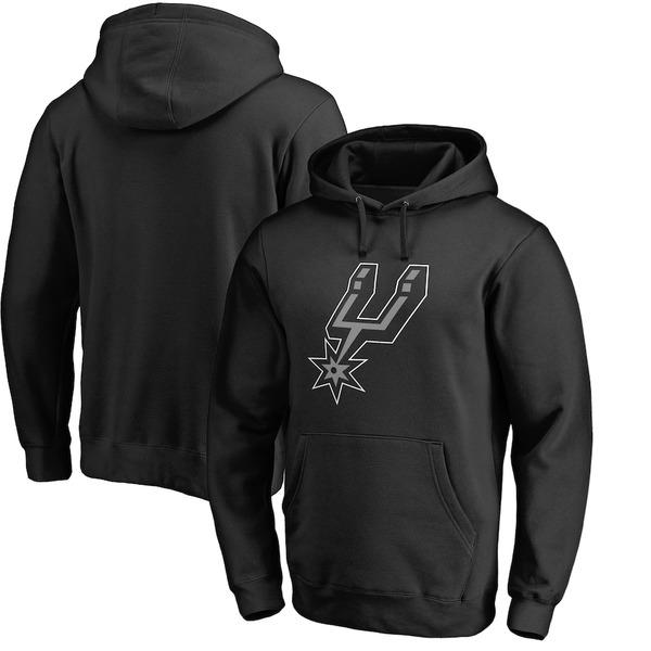 ファナティクス メンズ パーカー・スウェットシャツ アウター San Antonio Spurs Fanatics Branded Big & Tall Primary Logo Pullover Hoodie Black