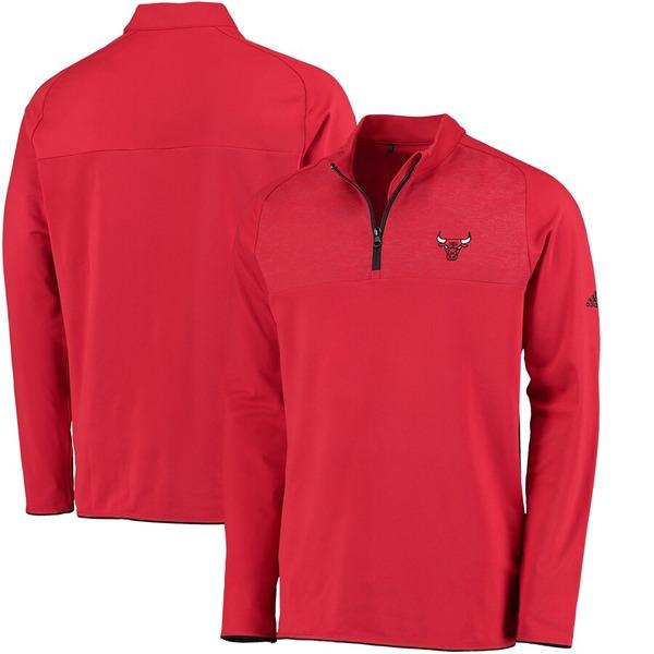 アディダス メンズ ジャケット&ブルゾン アウター Chicago Bulls adidas Fashion 2 Layering climawarm Pullover Jacket Red